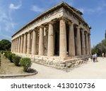 Temple Of Hephaestus In Ancien...