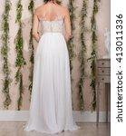 modern wedding dress | Shutterstock . vector #413011336