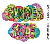 inscription summer sale on the... | Shutterstock .eps vector #413012425