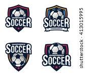 soccer logos  american logo... | Shutterstock .eps vector #413015995