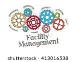 gears and facility management... | Shutterstock .eps vector #413016538