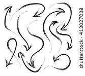 vector hand drawn grunge arrows ... | Shutterstock .eps vector #413027038