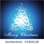 christmas tree with magic... | Shutterstock .eps vector #41303128