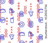 fast food linear outline... | Shutterstock .eps vector #413032756