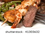 closeup of sirloin steak on... | Shutterstock . vector #41303632