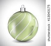 christmas ball   Shutterstock .eps vector #413043175