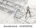 rolls of architecture... | Shutterstock . vector #413050546