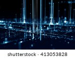 3d futuristic abstract... | Shutterstock . vector #413053828