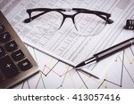 business accounting   business... | Shutterstock . vector #413057416