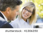 portrait of a businesswoman and ... | Shutterstock . vector #41306350