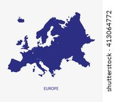 europe map silhouette... | Shutterstock .eps vector #413064772