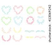 colorful vector set of frames... | Shutterstock .eps vector #413069242