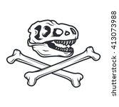 Prehistory Dino Logo Concept. T ...