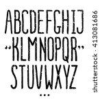 vector handwritten textured... | Shutterstock .eps vector #413081686