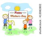 illustration on the theme of... | Shutterstock .eps vector #413082802