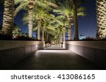 Steps With Palm Trees