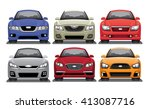 mid size sedan vector set | Shutterstock .eps vector #413087716