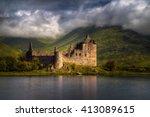 Kilchurn Castle Reflections In...