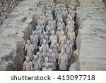 terracotta army  china  xian ...   Shutterstock . vector #413097718