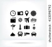 travel icons set | Shutterstock .eps vector #413098792