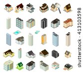 isometric vector illustration... | Shutterstock .eps vector #413103598