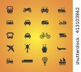 transport icons. transportation ... | Shutterstock .eps vector #413103862