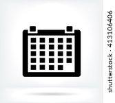 kalendar icon | Shutterstock .eps vector #413106406