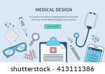 medical web banner template.... | Shutterstock . vector #413111386