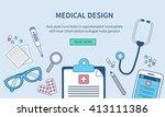 medical web banner template.... | Shutterstock . vector #413111386