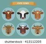set of vector images of six...   Shutterstock .eps vector #413112205