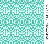 vector seamless bohemian... | Shutterstock .eps vector #413119276