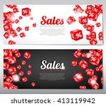 business banners with images of ... | Shutterstock .eps vector #413119942