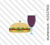 sandwich design. healthy food.... | Shutterstock .eps vector #413127832
