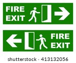 emergency fire exit sign | Shutterstock .eps vector #413132056