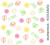 fruit pattern with the words ...   Shutterstock .eps vector #413133652