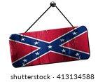 Rebel Flag  3d Rendering ...