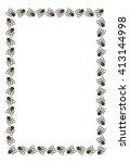 raster frame with cartoon flies. | Shutterstock . vector #413144998