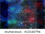 vector sacred geometry. | Shutterstock .eps vector #413160796