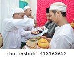 tarakan  indonesia. 26th apr... | Shutterstock . vector #413163652