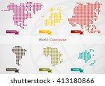 world map in dot style pattern...   Shutterstock .eps vector #413180866