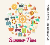 summer icon template  | Shutterstock .eps vector #413184832