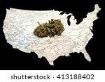 legal marijuana in america ... | Shutterstock . vector #413188402
