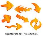 set of glossy yellow arrow... | Shutterstock .eps vector #41320531