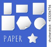 paper corner folds   set of... | Shutterstock .eps vector #413206756