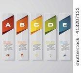 design clean number banners... | Shutterstock .eps vector #413207122