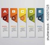 design clean number banners... | Shutterstock .eps vector #413207125