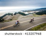 two road bikers on ridgecrest... | Shutterstock . vector #413207968