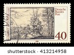 germany   circa 1980  a stamp... | Shutterstock . vector #413214958