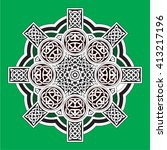 celtic design element | Shutterstock .eps vector #413217196