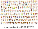 simple characters in different... | Shutterstock .eps vector #413217898